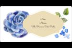 Bleu floral  Étiquettes de classement écologiques - gabarit prédéfini. <br/>Utilisez notre logiciel Avery Design & Print Online pour personnaliser facilement la conception.