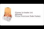 Livraison de pizza Étiquettes de classement écologiques - gabarit prédéfini. <br/>Utilisez notre logiciel Avery Design & Print Online pour personnaliser facilement la conception.