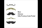Moustache de papa Étiquettes D'Adresse - gabarit prédéfini. <br/>Utilisez notre logiciel Avery Design & Print Online pour personnaliser facilement la conception.