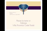 Éléphant géométrique Étiquettes D'Adresse - gabarit prédéfini. <br/>Utilisez notre logiciel Avery Design & Print Online pour personnaliser facilement la conception.