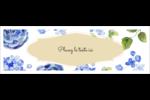 Bleu floral  Carte de note - gabarit prédéfini. <br/>Utilisez notre logiciel Avery Design & Print Online pour personnaliser facilement la conception.