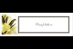Fleur de vanille Carte de note - gabarit prédéfini. <br/>Utilisez notre logiciel Avery Design & Print Online pour personnaliser facilement la conception.