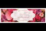 Bouquet de roses Carte de note - gabarit prédéfini. <br/>Utilisez notre logiciel Avery Design & Print Online pour personnaliser facilement la conception.