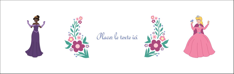"""4¼"""" x 5½"""" Carte de note - Princesses"""