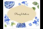 Bleu floral  Cartes Et Articles D'Artisanat Imprimables - gabarit prédéfini. <br/>Utilisez notre logiciel Avery Design & Print Online pour personnaliser facilement la conception.