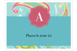 Cachemire Badges - gabarit prédéfini. <br/>Utilisez notre logiciel Avery Design & Print Online pour personnaliser facilement la conception.