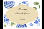 Bleu floral  Badges - gabarit prédéfini. <br/>Utilisez notre logiciel Avery Design & Print Online pour personnaliser facilement la conception.