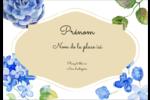 Bleu floral  Étiquettes à codage couleur - gabarit prédéfini. <br/>Utilisez notre logiciel Avery Design & Print Online pour personnaliser facilement la conception.
