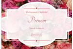Bouquet de roses Étiquettes à codage couleur - gabarit prédéfini. <br/>Utilisez notre logiciel Avery Design & Print Online pour personnaliser facilement la conception.