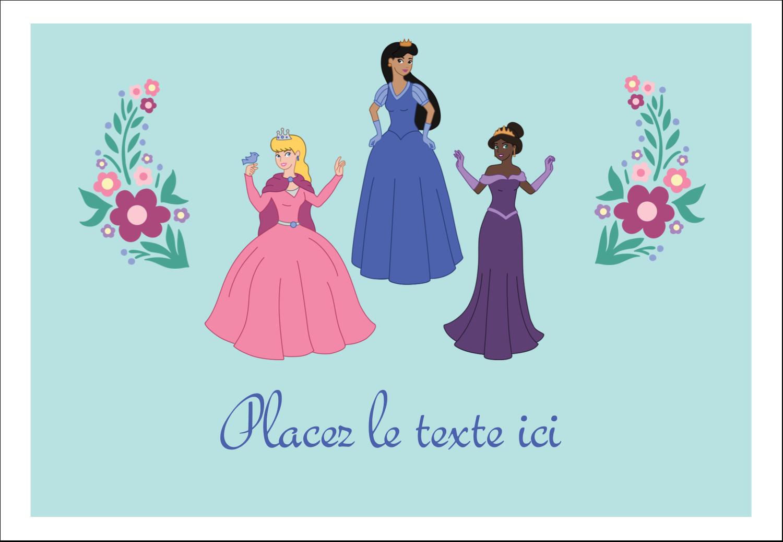 """1¼"""" Étiquettes à codage couleur - Princesses"""