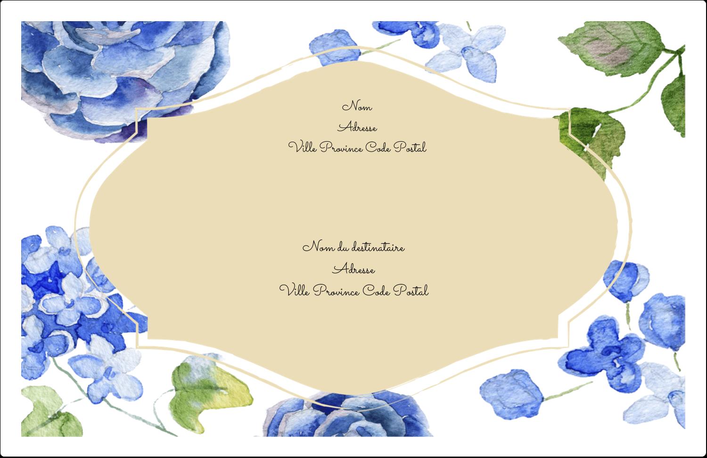 """1½"""" x 4"""" Étiquettes d'adresse - Bleu floral"""