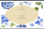 Bleu floral  Étiquettes d'adresse - gabarit prédéfini. <br/>Utilisez notre logiciel Avery Design & Print Online pour personnaliser facilement la conception.