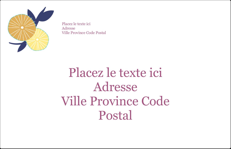 """1½"""" x 4"""" Étiquettes d'adresse - Impression pissenlit"""