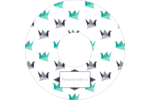 Grue en origami Étiquettes de classement - gabarit prédéfini. <br/>Utilisez notre logiciel Avery Design & Print Online pour personnaliser facilement la conception.