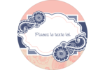 Cachemire rétro Étiquettes Voyantes - gabarit prédéfini. <br/>Utilisez notre logiciel Avery Design & Print Online pour personnaliser facilement la conception.