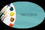 Palette de peinture Étiquettes carrées - gabarit prédéfini. <br/>Utilisez notre logiciel Avery Design & Print Online pour personnaliser facilement la conception.