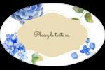 Bleu floral  Étiquettes carrées - gabarit prédéfini. <br/>Utilisez notre logiciel Avery Design & Print Online pour personnaliser facilement la conception.