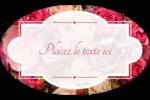 Bouquet de roses Étiquettes carrées - gabarit prédéfini. <br/>Utilisez notre logiciel Avery Design & Print Online pour personnaliser facilement la conception.