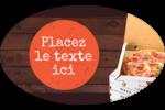 Livraison de pizza Étiquettes carrées - gabarit prédéfini. <br/>Utilisez notre logiciel Avery Design & Print Online pour personnaliser facilement la conception.