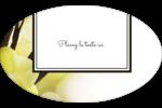 Fleur de vanille Étiquettes carrées - gabarit prédéfini. <br/>Utilisez notre logiciel Avery Design & Print Online pour personnaliser facilement la conception.