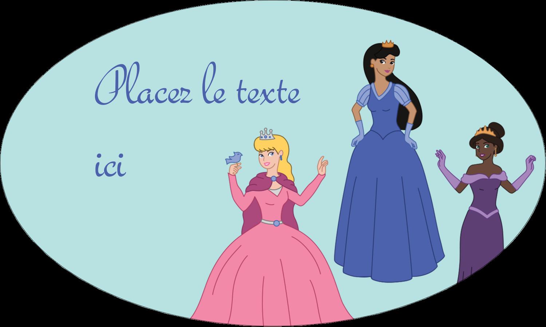 """1½"""" x 1½"""" Étiquettes carrées - Princesses"""