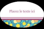 Impression pissenlit Étiquettes carrées - gabarit prédéfini. <br/>Utilisez notre logiciel Avery Design & Print Online pour personnaliser facilement la conception.