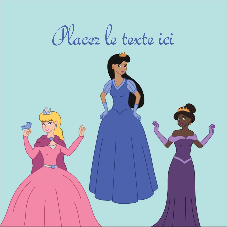 """2"""" Diameter Étiquettes rondes - Princesses"""