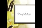 Fleur de vanille Étiquettes rondes - gabarit prédéfini. <br/>Utilisez notre logiciel Avery Design & Print Online pour personnaliser facilement la conception.