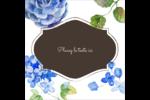 Bleu floral  Étiquettes enveloppantes - gabarit prédéfini. <br/>Utilisez notre logiciel Avery Design & Print Online pour personnaliser facilement la conception.
