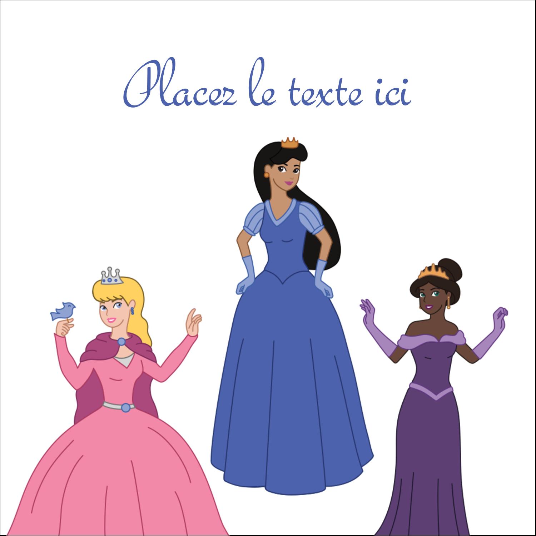 """9¾"""" x 1¼"""" Étiquettes enveloppantes - Princesses"""
