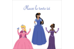 Princesses Étiquettes enveloppantes - gabarit prédéfini. <br/>Utilisez notre logiciel Avery Design & Print Online pour personnaliser facilement la conception.
