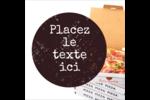 Livraison de pizza Étiquettes enveloppantes - gabarit prédéfini. <br/>Utilisez notre logiciel Avery Design & Print Online pour personnaliser facilement la conception.