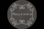 Affiche de style pâtisserie Étiquettes rondes - gabarit prédéfini. <br/>Utilisez notre logiciel Avery Design & Print Online pour personnaliser facilement la conception.