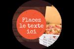 Livraison de pizza Étiquettes rondes - gabarit prédéfini. <br/>Utilisez notre logiciel Avery Design & Print Online pour personnaliser facilement la conception.