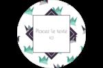 Grue en origami Étiquettes arrondies - gabarit prédéfini. <br/>Utilisez notre logiciel Avery Design & Print Online pour personnaliser facilement la conception.