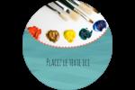 Palette de peinture Étiquettes arrondies - gabarit prédéfini. <br/>Utilisez notre logiciel Avery Design & Print Online pour personnaliser facilement la conception.