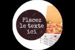 Livraison de pizza Étiquettes arrondies - gabarit prédéfini. <br/>Utilisez notre logiciel Avery Design & Print Online pour personnaliser facilement la conception.