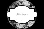 Bouquet de roses Étiquettes arrondies - gabarit prédéfini. <br/>Utilisez notre logiciel Avery Design & Print Online pour personnaliser facilement la conception.