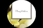 Fleur de vanille Étiquettes arrondies - gabarit prédéfini. <br/>Utilisez notre logiciel Avery Design & Print Online pour personnaliser facilement la conception.