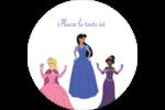 Princesses Étiquettes arrondies - gabarit prédéfini. <br/>Utilisez notre logiciel Avery Design & Print Online pour personnaliser facilement la conception.