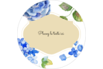Bleu floral  Étiquettes de classement - gabarit prédéfini. <br/>Utilisez notre logiciel Avery Design & Print Online pour personnaliser facilement la conception.