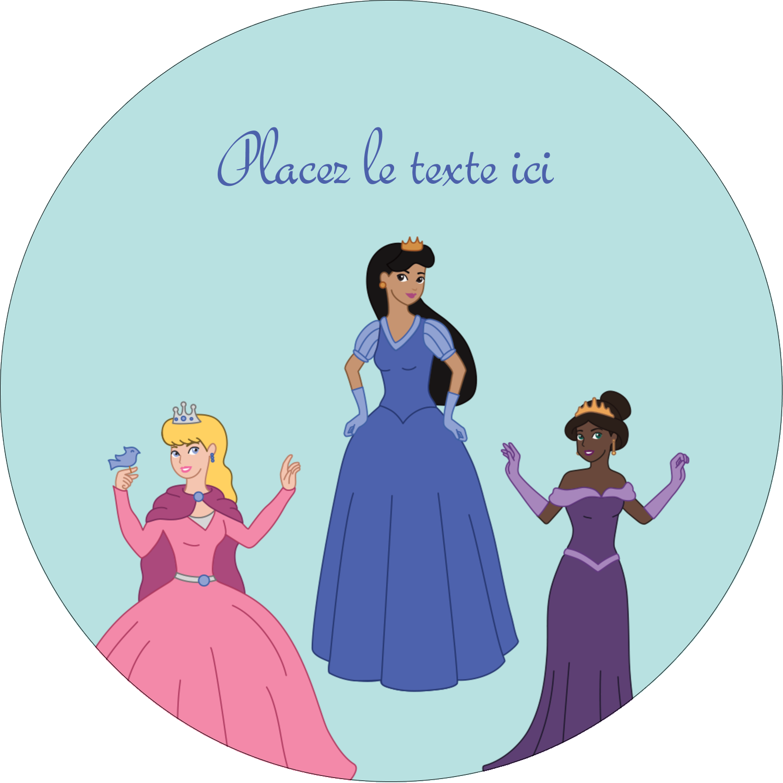 "3-7/16"" x 15/16"" Étiquettes de classement - Princesses"