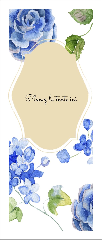 """2"""" x 3½"""" Cartes Pour Le Bureau - Bleu floral"""