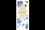 Bleu floral  Cartes Pour Le Bureau - gabarit prédéfini. <br/>Utilisez notre logiciel Avery Design & Print Online pour personnaliser facilement la conception.