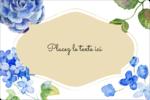 Bleu floral  Étiquettes rectangulaires - gabarit prédéfini. <br/>Utilisez notre logiciel Avery Design & Print Online pour personnaliser facilement la conception.