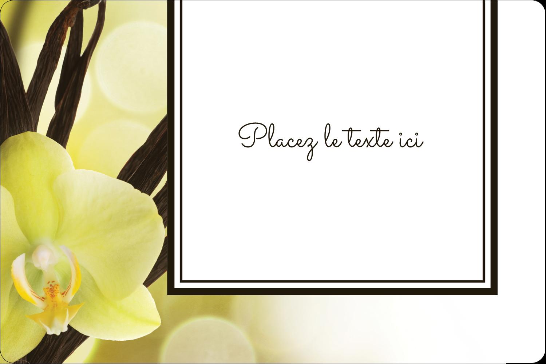 """3"""" x 3¾"""" Étiquettes rectangulaires - Fleur de vanille"""