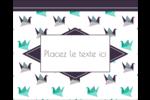 Grue en origami Étiquettes rondes gaufrées - gabarit prédéfini. <br/>Utilisez notre logiciel Avery Design & Print Online pour personnaliser facilement la conception.