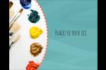 Palette de peinture Étiquettes rondes gaufrées - gabarit prédéfini. <br/>Utilisez notre logiciel Avery Design & Print Online pour personnaliser facilement la conception.