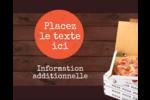 Livraison de pizza Étiquettes rondes gaufrées - gabarit prédéfini. <br/>Utilisez notre logiciel Avery Design & Print Online pour personnaliser facilement la conception.