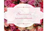 Bouquet de roses Étiquettes rondes gaufrées - gabarit prédéfini. <br/>Utilisez notre logiciel Avery Design & Print Online pour personnaliser facilement la conception.